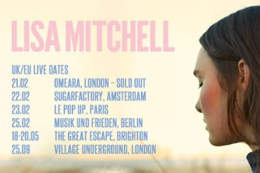 Lisa Mitchell europe tour dates